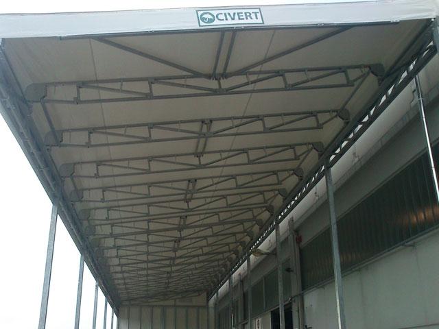 Tettoia per capannoni Civert